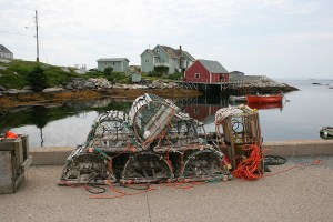 Lobsters Traps in Peggy's Cove NS