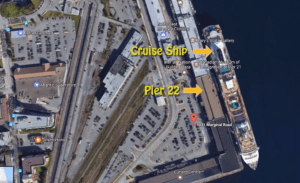 Pier 22 Cruise Ship Terminal Map