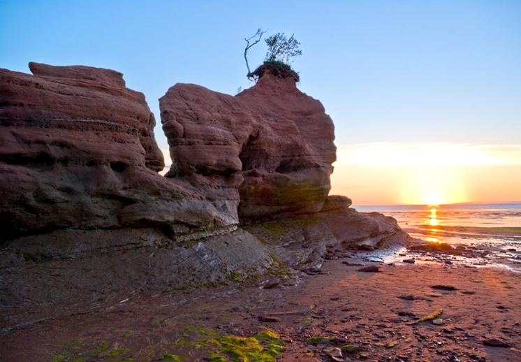Sandstone Formations at Medford Beach Minas Basin