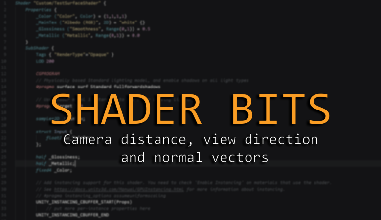 Shader bits: Camera distance, view direction and normal