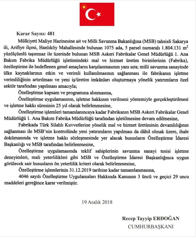 whatsapp image 2020 12 05 at 20 16 48 - Tank Palet fabrikasına ilişkin Resmi Gazete kararı