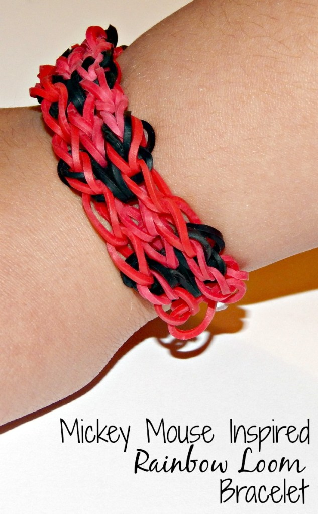 Make a Mickey Mouse Inspired Rainbow Loom Bracelet