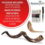 Half Polished Shofar Plus Ram Gift Guide Package include list
