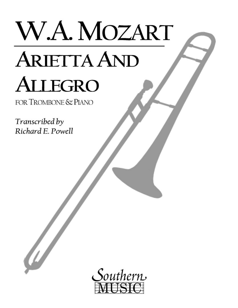 Arietta and Allegro, K109b/8 K3: Trombone, Baritone or