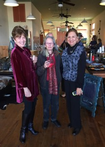 Hallet Oak Gallery's Spotlight on the Arts featuring Steve Beckman, tradional watercolorist. Presented Seen here having a good time are: Partons of the Arts, Gallery Trailblazers, & Gallery Volunteers: Lois Weiss, Elizabeth Payne, and Alice Vickers.