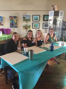 "Bob Barrera's Acryilic Painting Workshop called ""Stroke & Sip"" always are lots of fun for friends and family!"