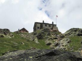 Hut above Saas Grund