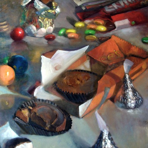 Melting Pot  40 x 30 inches Oil on canvas by Hall Groat II