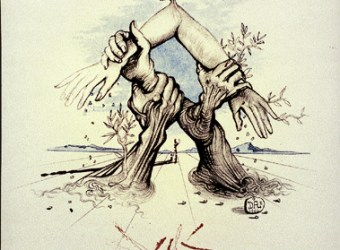 Salvador Dali Prints, Hands Lithograph