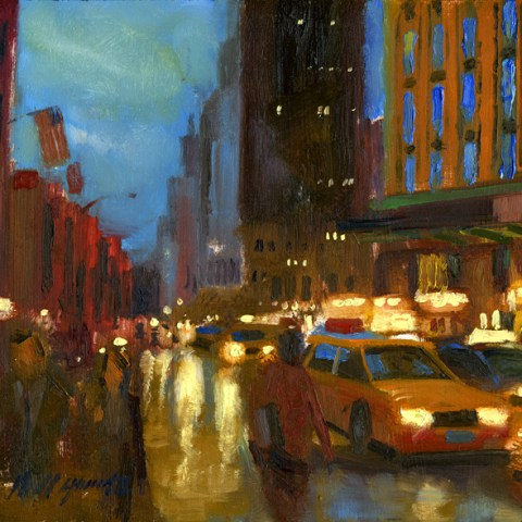 5th Avenue Night Street Scene