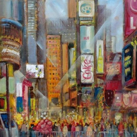 Times square New Year's Eve Painting