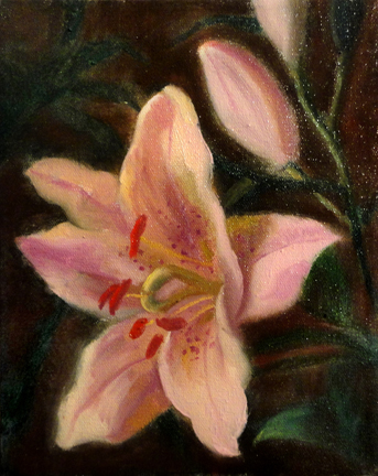 Floral Painting Tutorial, How to Paint a Lily