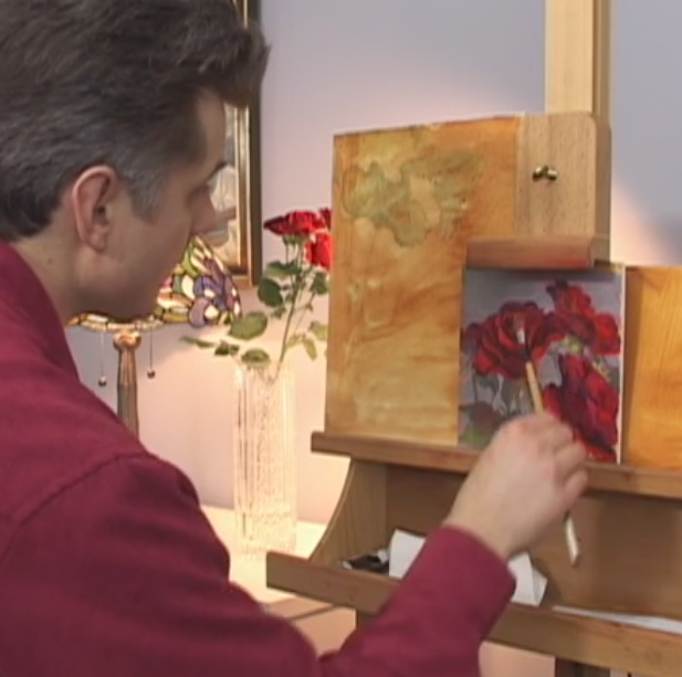 floral painting video
