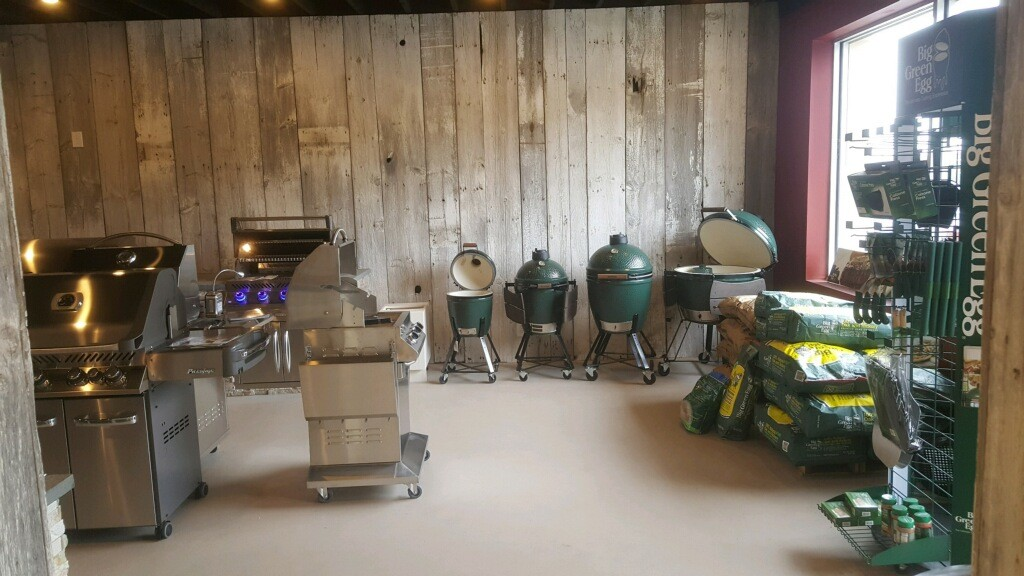 Halligans Grill Master Showroom with Big Green EGG products