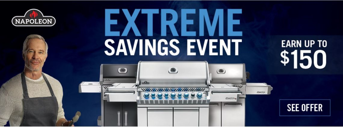 Napoleon sale on portable grills at Halligans Hearth and Home