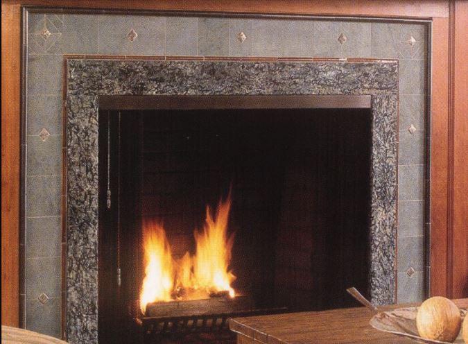 custom stone surround for fireplace