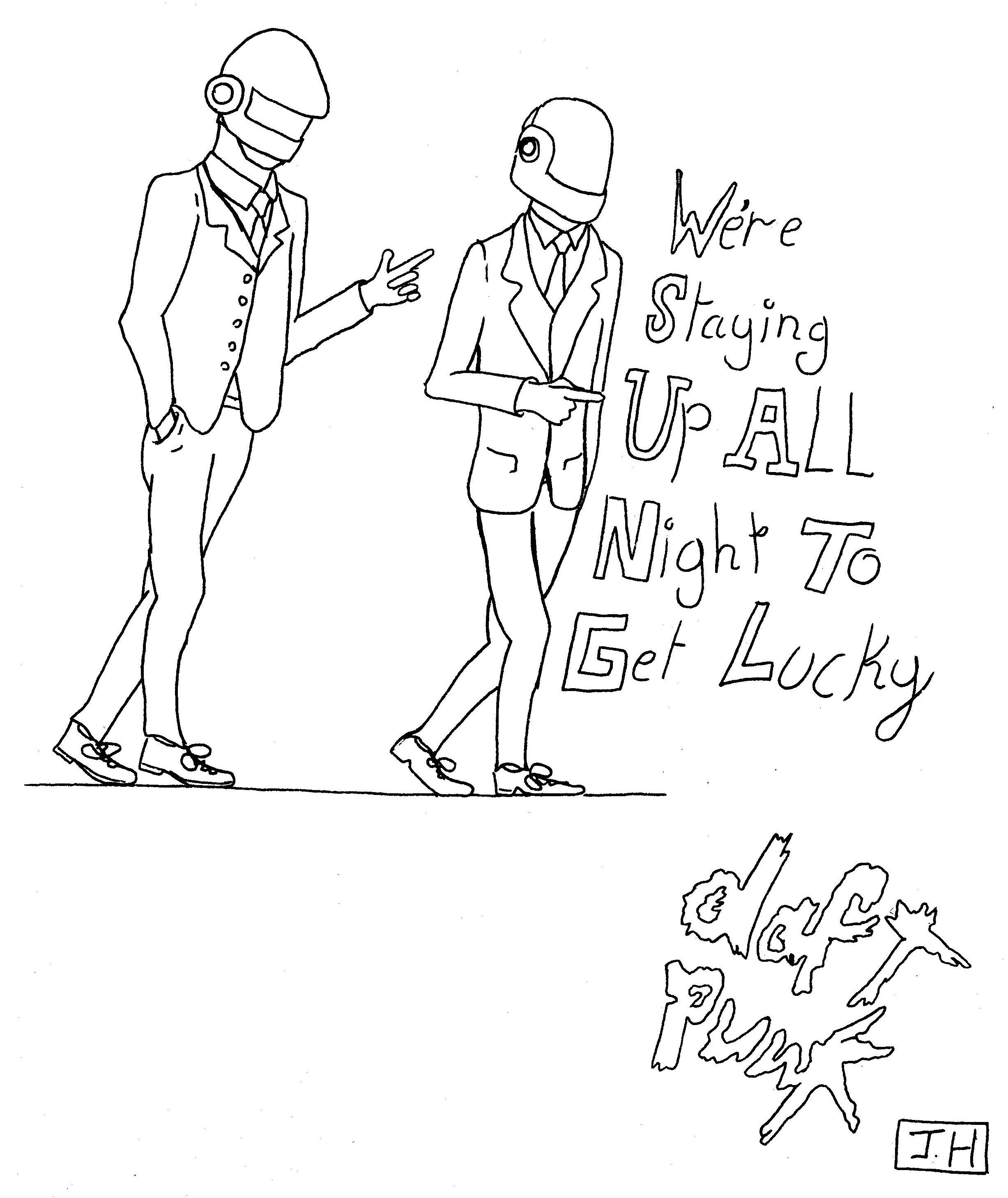 Daft punk initial sketch