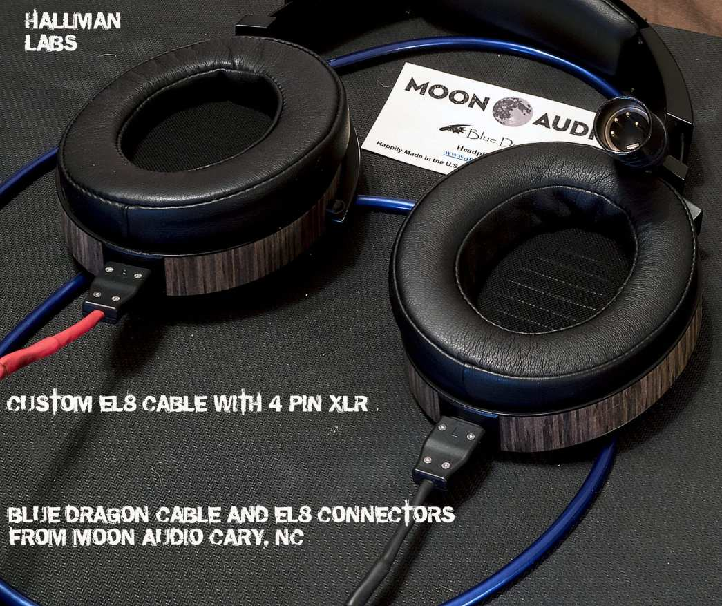 Finished 4-Pin XLR to EL-8 with Blue Dragon cable, all by Moon Audio and Audeze.