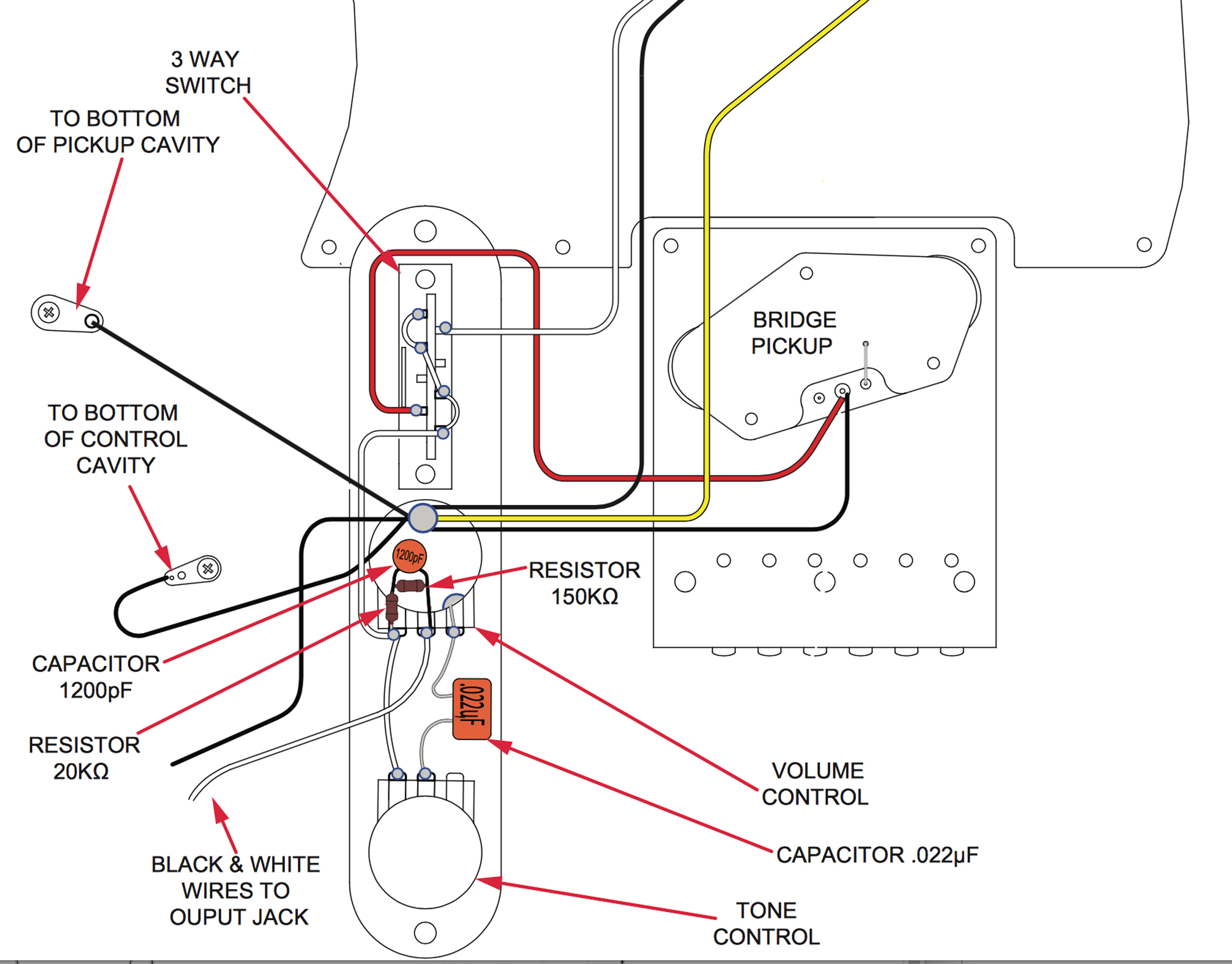small resolution of treble bleed wiring diagram for humbuckers wiring diagram explained guitar treble bleed treble bleed strat wiring