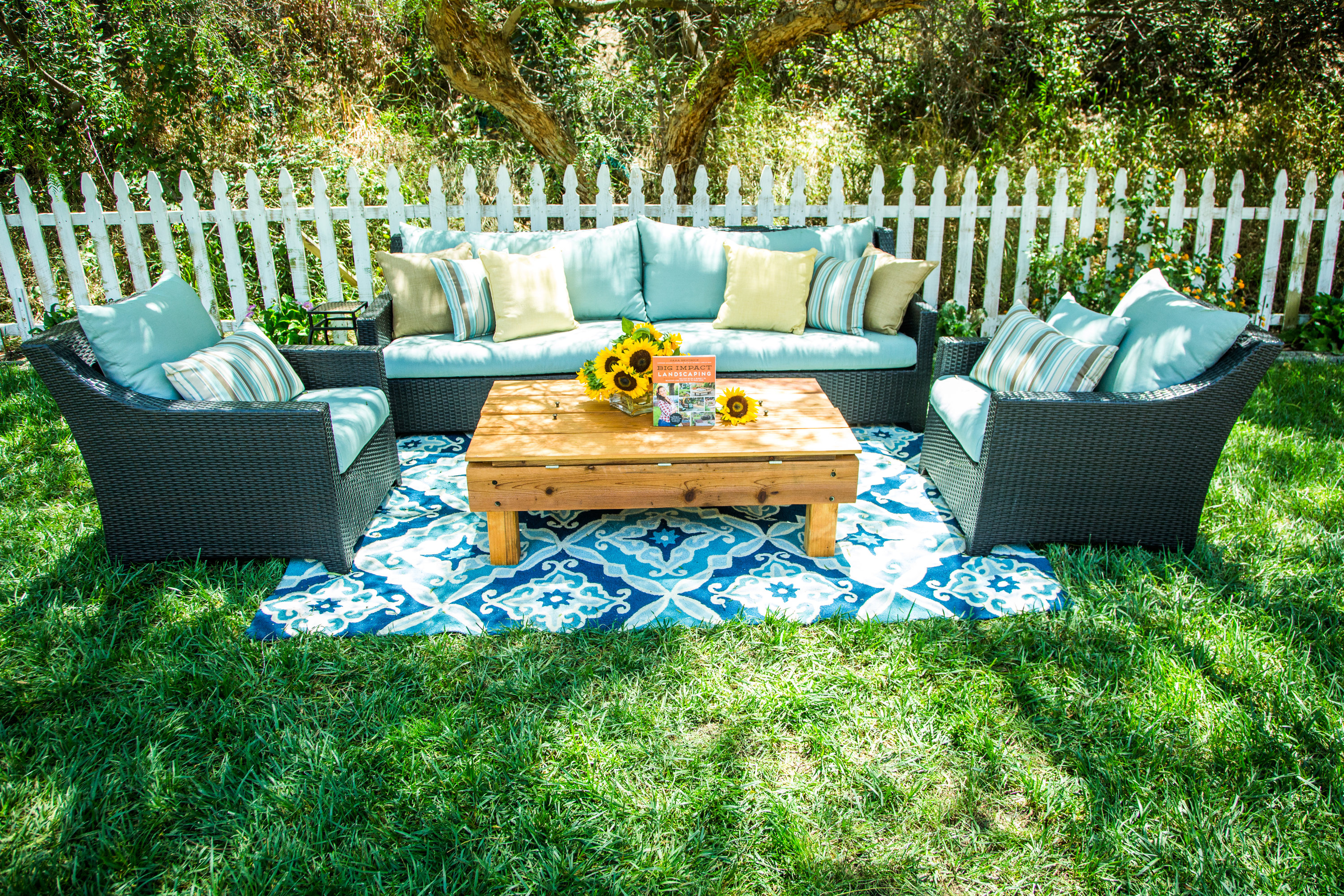 diy outdoor living room home family