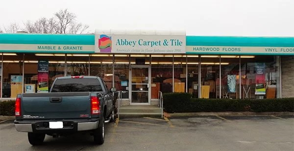 Abbey carpet and flooring in weymouth storefront
