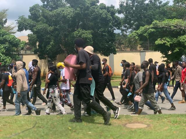 EndSARS protesters march in Abuja