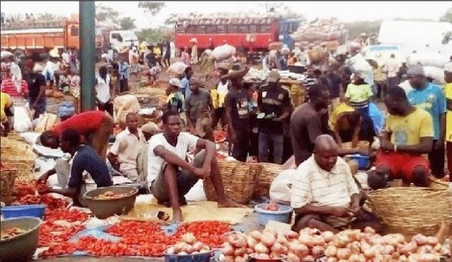 Traders at Mile 12 Market, Lagos