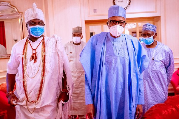 Ooni of Ife meets Buhari