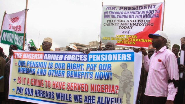 Ex-soldiers protest is Abuja