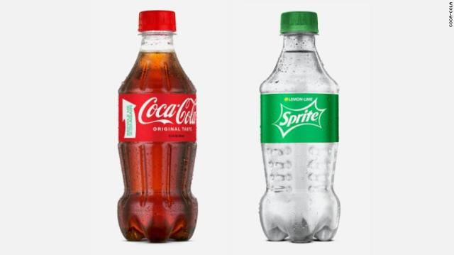 Coca-Cola recycled bottles