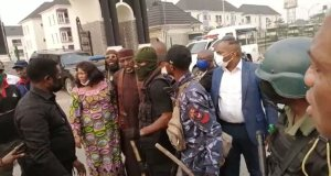 Okorocha being taken by police