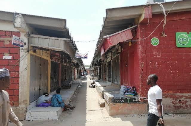 Wuse market, Abuja, shut down