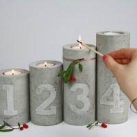 DIY// Beton & Kupfer Kerzenständer mit Prägung
