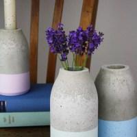 Schöne Vase aus Beton einfach selber gießen