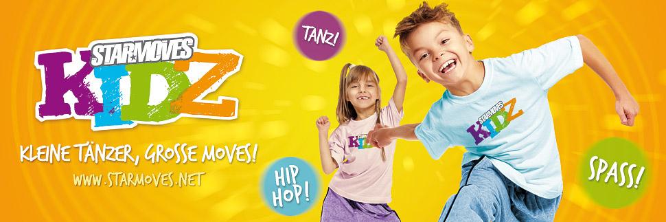 STARMOVES Kidz tanzen in der Tanzschule Picasso Hip Hop Tanz für tanzende Kinder