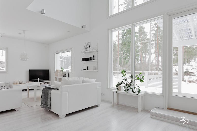Contemporary White Living Room Designing Home Interior In A Pure White Palette