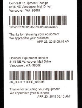 How To Return Comcast Equipment : return, comcast, equipment, Comcast, Xfinity, Print, Receipt, System