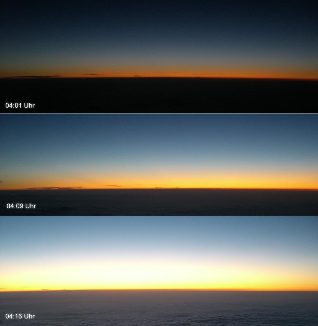 Minuten vor dem Sonnenaufgang