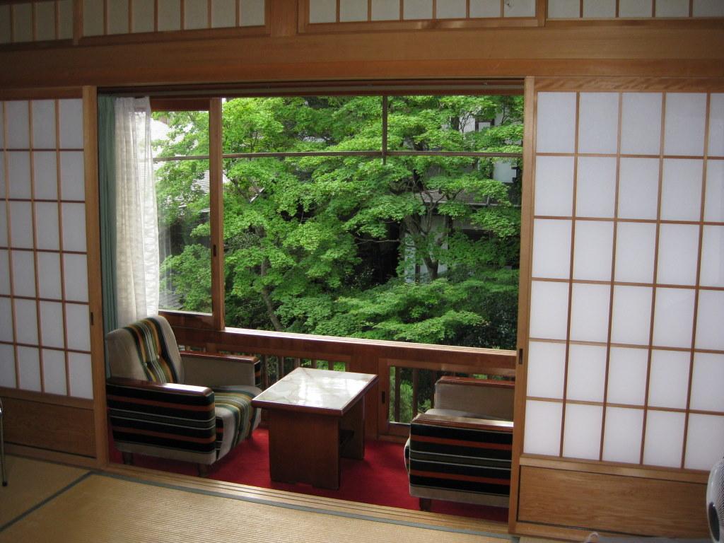 Zimmer mit Blick in den Garten