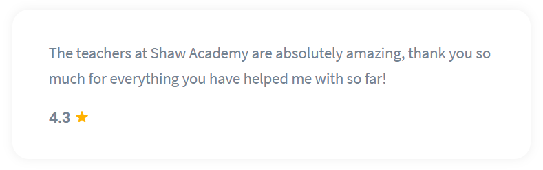 Shaw Academy Business Course Reviews - 4.3 stars