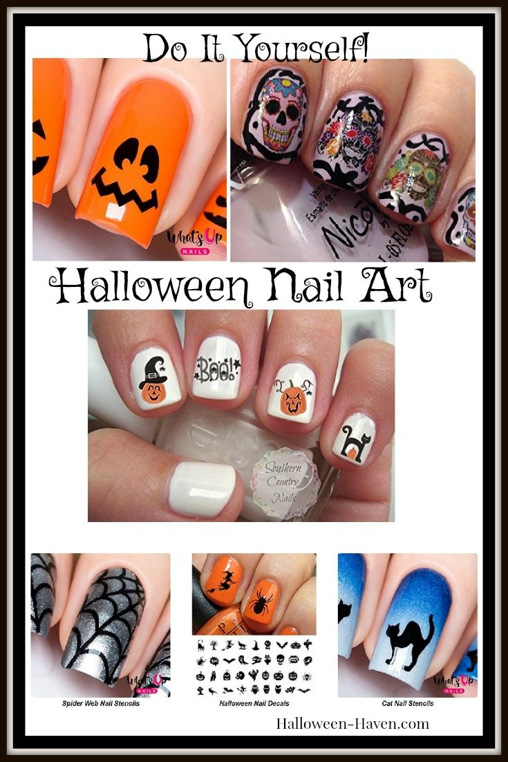 Halloween Nail Decals and Stencils