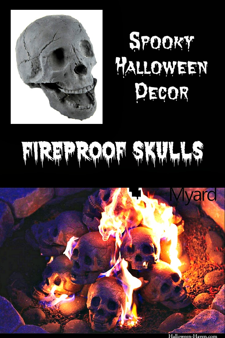 Halloween Decor - Fireproof Skulls