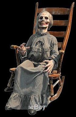 Life Size Creepy Psycho Animated Rocking Mother Haunted