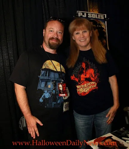 Halloween Daily News Editor-in-Chief Matt Artz with P.J. Soles