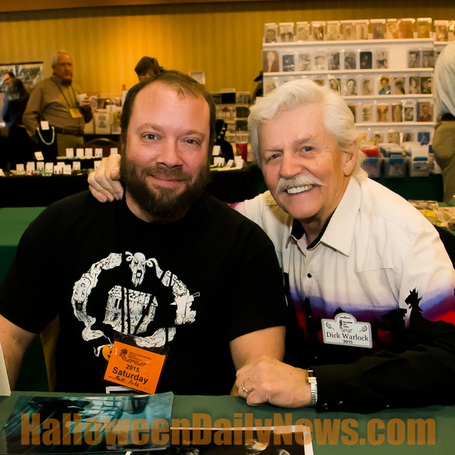 Halloween Daily News owner/editor Matt Artz with Dick Warlock, 3/6/15