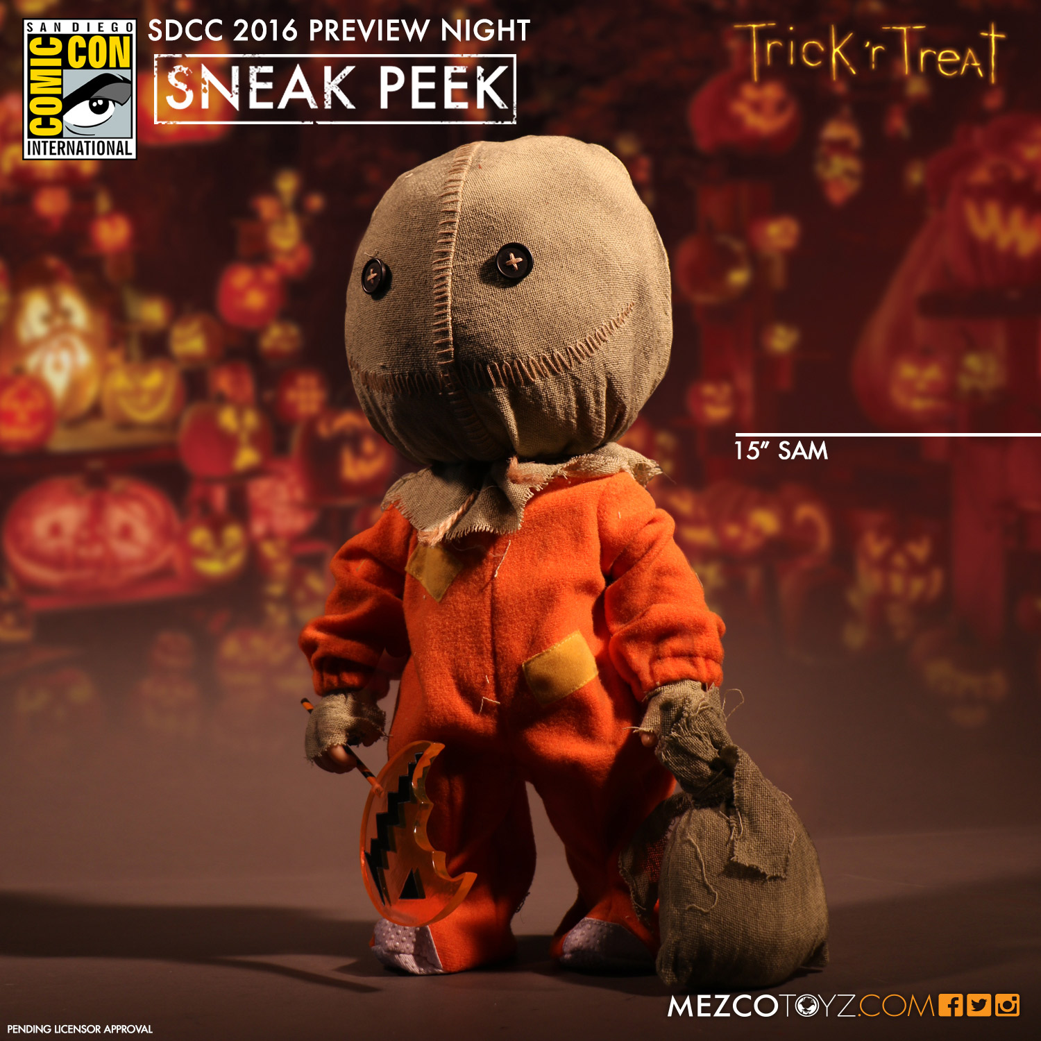 SDCC - Trick 'r Treat Sam by Mezco