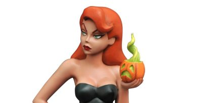 Poison Ivy in the Gotham City pumpkin patch, 'Batman The Animated Series' statue by Diamond Select Toys