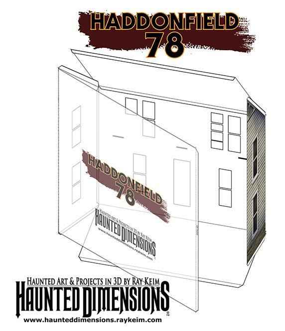 Myers House Paper Model by Ray Keim/Haunted Dimensions