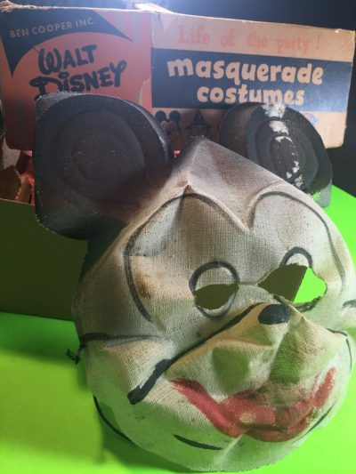 An early Mickey Mouse gauze mask by Ben Cooper.