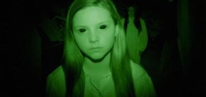 Chloe Csengery as Katie in 'Paranormal Activity: The Ghost Dimension'.